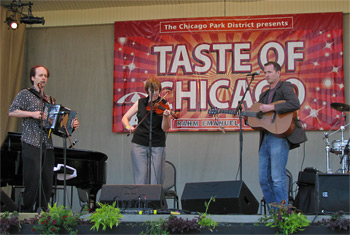 Liz Carroll, John Doyle and John Williams at Taste of Chicago 2011