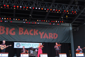 Altan at Milwaukee Irish Fest - August 21, 2011.  Photo by James Fidler