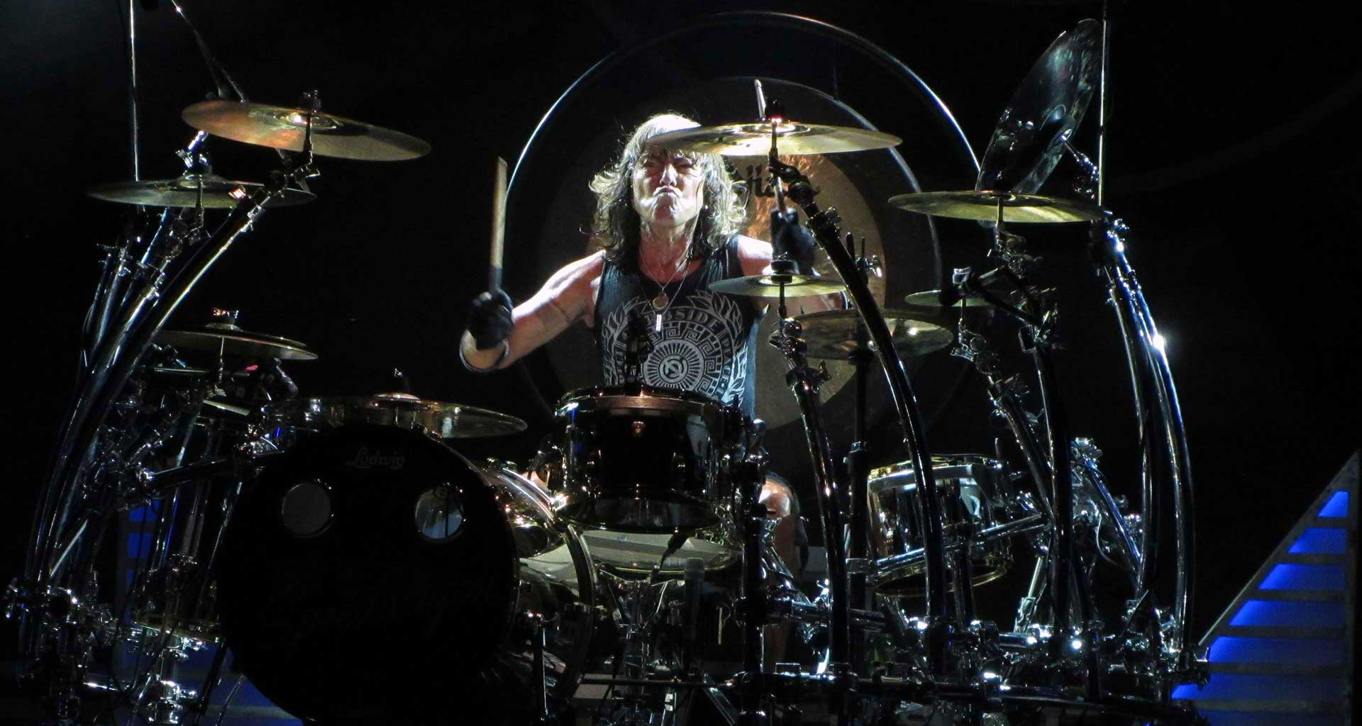 REO Speedwagon's Brian Hitt plays Drums