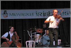 Donnell Leahy and Natalie MacMaster at Milwaukee Irish Fest - August 14, 2009