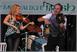 Donnell Leahy and Natalie MacMaster at Milwaukee Irish Fest - August 16, 2009